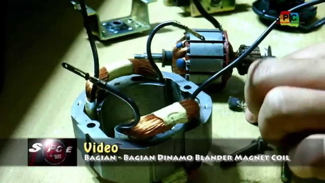 Video Bagian Bagian Dinamo Motor Blender Dan Cara Memasangnya