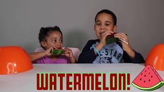 gummy food vs real food famoustubekids