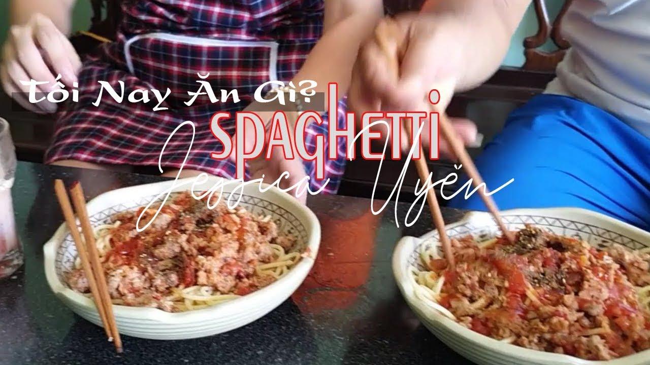 Uyên Ơi Ăn Gì | Cách Làm Mì Spaghetti  Sốt Cà Chua Tại Nhà – Jessica Uyên