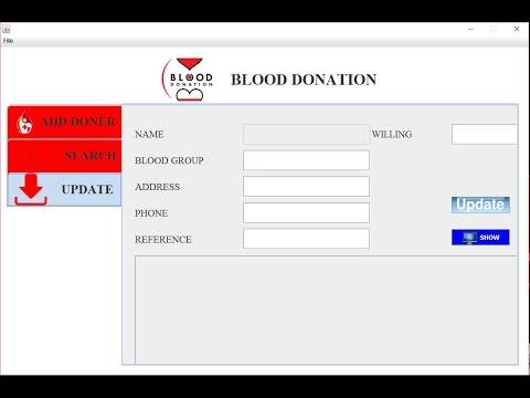 Blood Donation Software In Java Jframe Sqlite Urdu Part 2