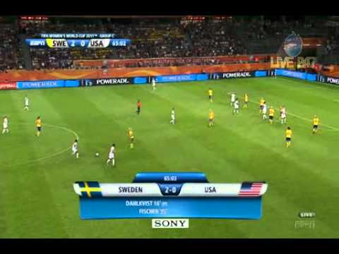 USWNT Sweden 2011 Women's World Cup Group C Second Half Full Game USA ESPN