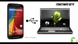 Como visualizar os arquivos no PC Moto G 2ª e 3ª Android 6.0 Marshmallow