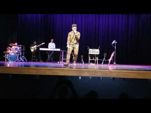 "16yr old - Caleb Carroll sings Cover of ""Steady (LIVE)"" by KJ Scriven at Christian Comedy Show"