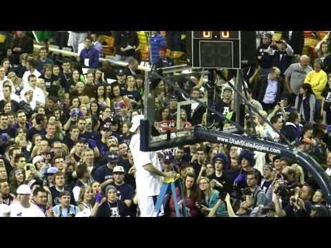 Utah State Aggies - 2011 WAC Champions Cutting Down The Nets