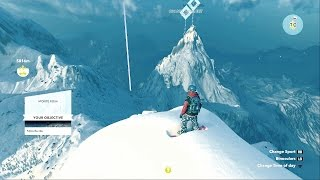 Steep Snowboard Speed and Mountains PC 60FPS