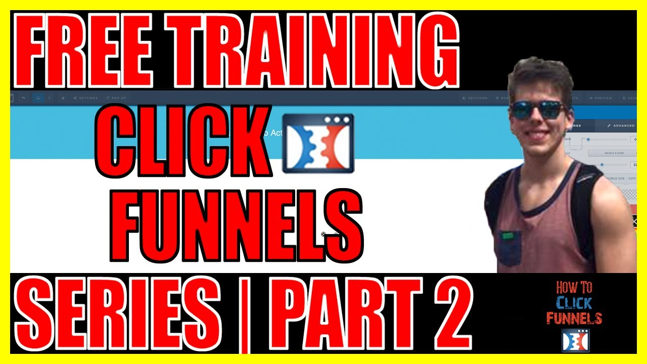 Free Click Funnels Training Series |Part 2| How to Create Header Element - V2 Editor - Color Picker