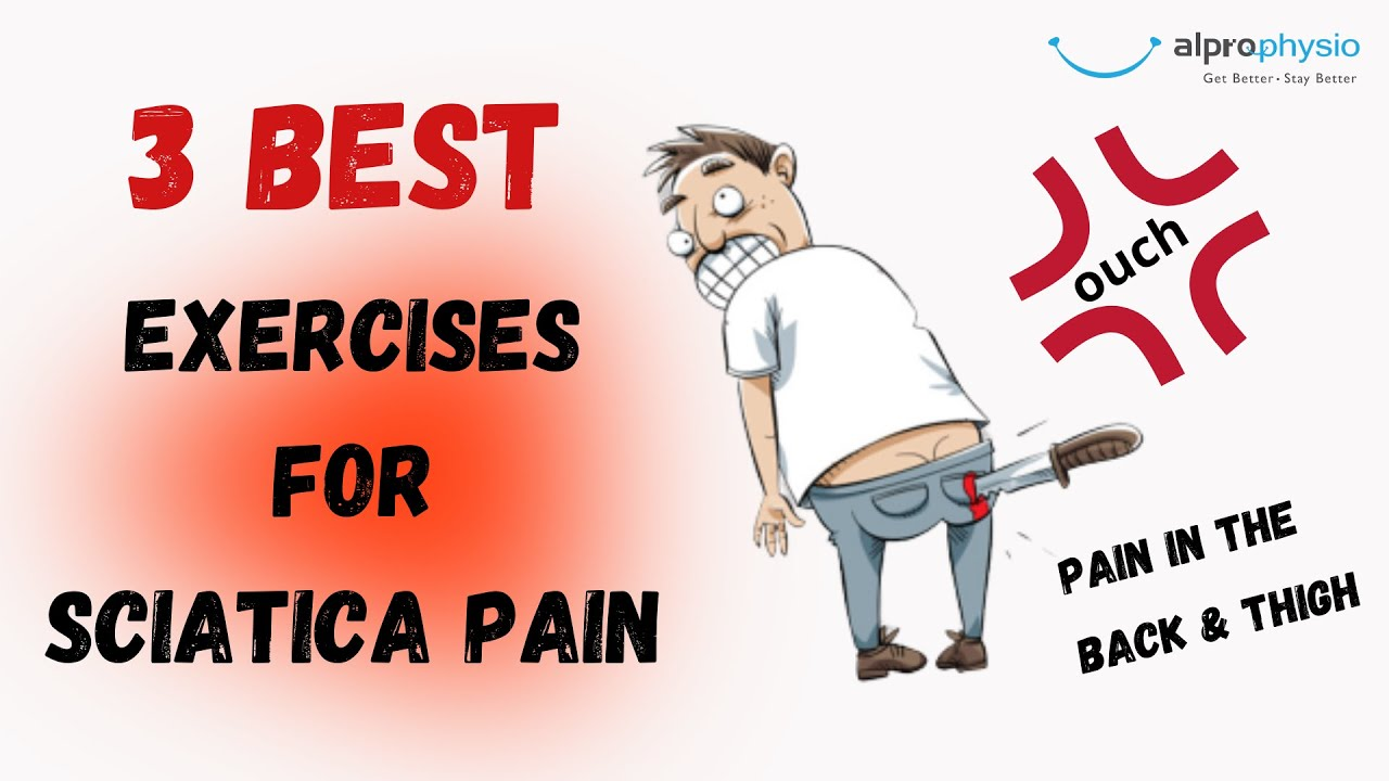 Top 3 exercises to relieve your low back and thigh pain (Sciatica pain)