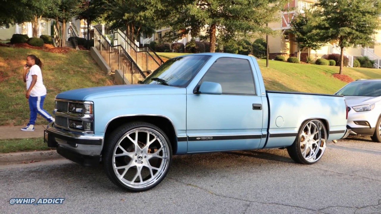 WhipAddict: Matte Ice Blue 92' Chevy 1500 Short Bed ...