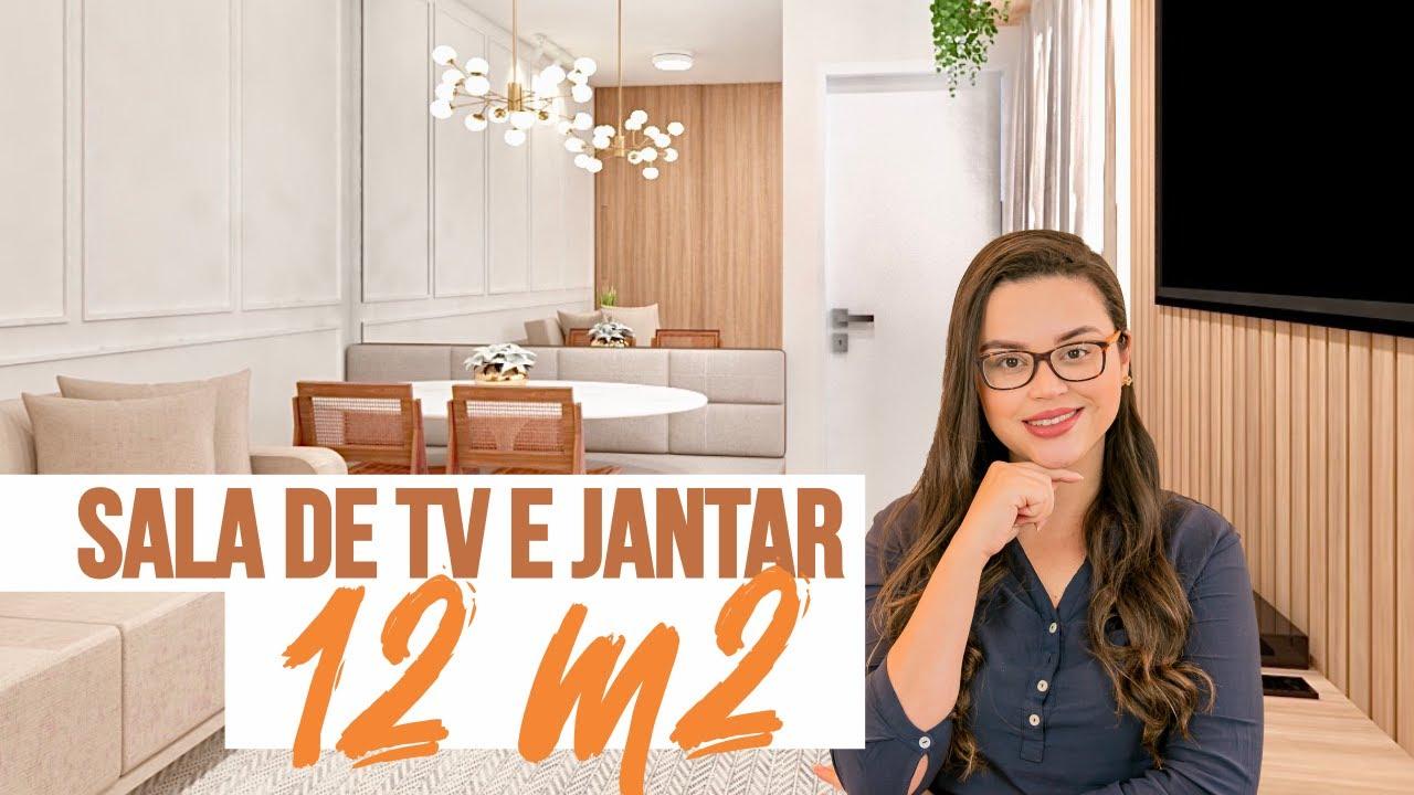 PROJETO - SALA DE TV e JANTAR PEQUENA (12m2) - Mariana Cabral