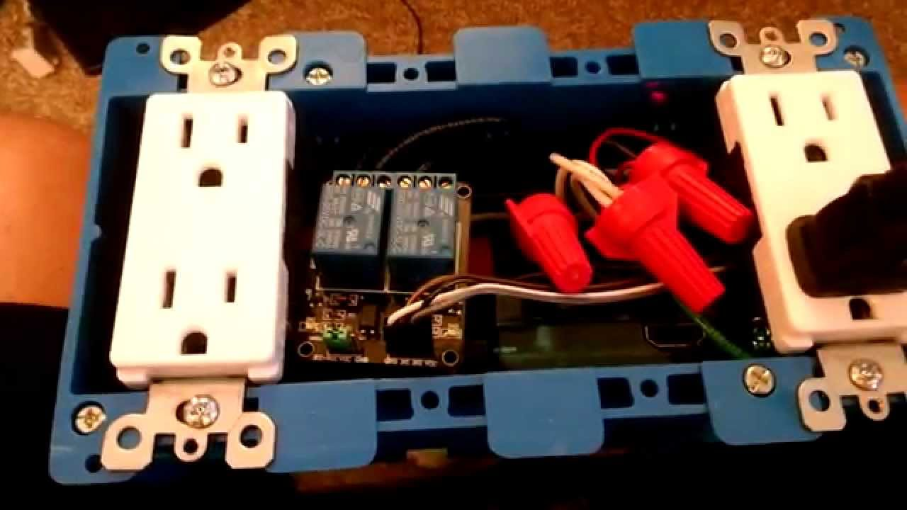 Internet Controlled Power strip using a Raspberry PI (15 Amp / 120 Volt)
