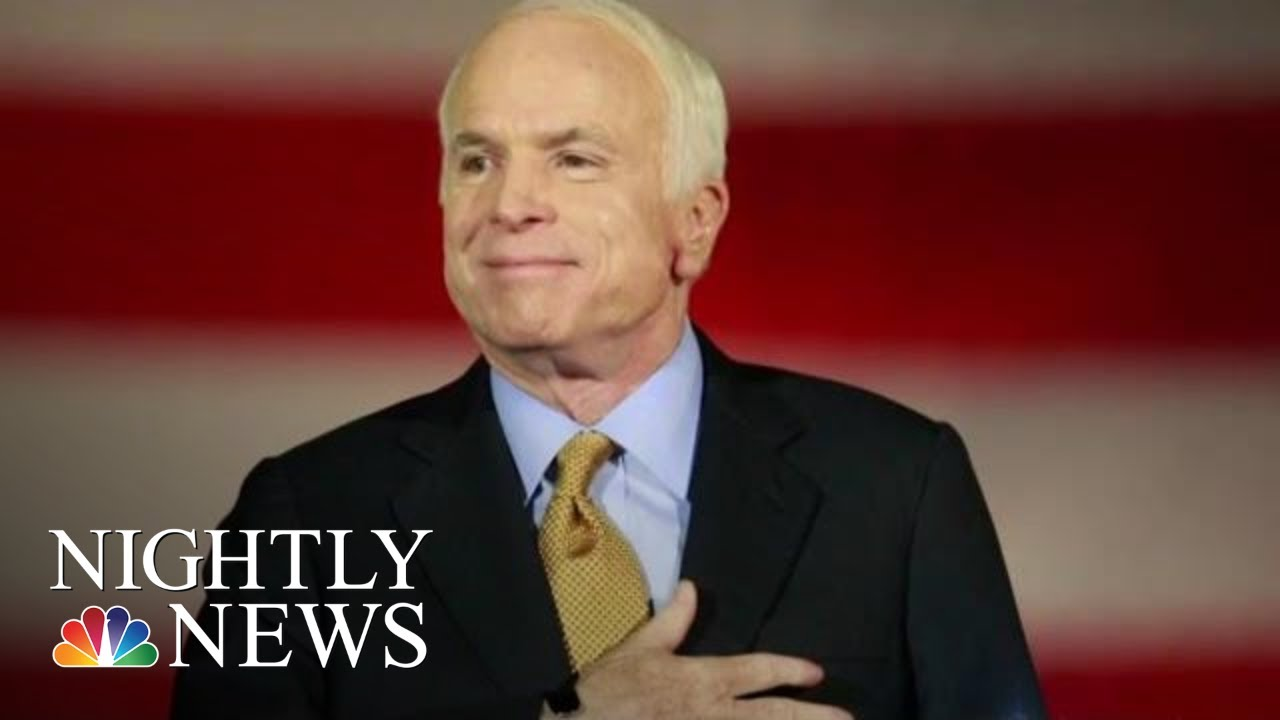 A Final Farewell For John McCain At The U.S. Naval Academy | NBC Nightly News
