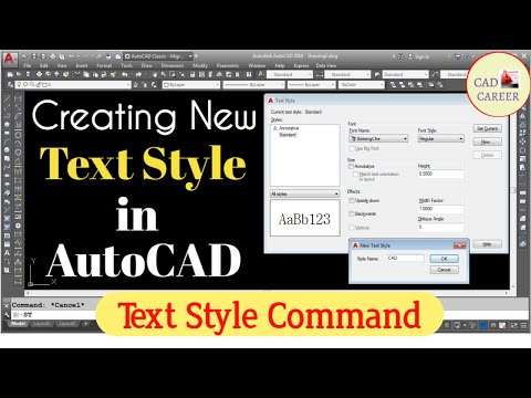 How To Change Your Text Font In AutoCAD | Text Style Command In AutoCAD | TEXT STYLE