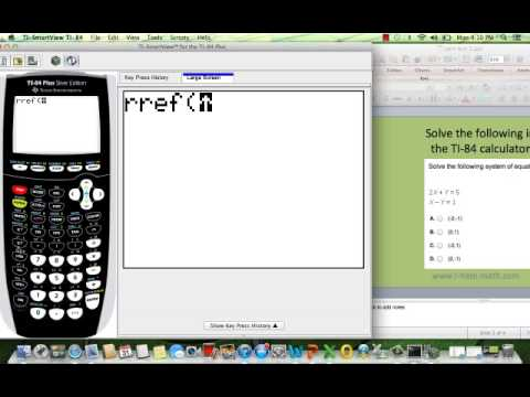 How to solve system of equations ti-84