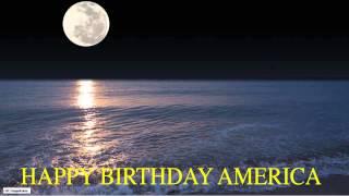 America  Moon La Luna - Happy Birthday