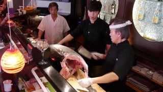 Giant blue fin tuna 2015 @ Tokyo Village Grill & Sushi