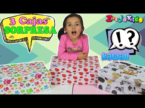 3 Cajas Sorpresa  KAWAII BOX De Cosas Muy Chulas Zarolakids