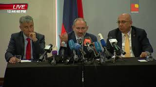 Nikol Pashinyan  Press conference in Los Angeles