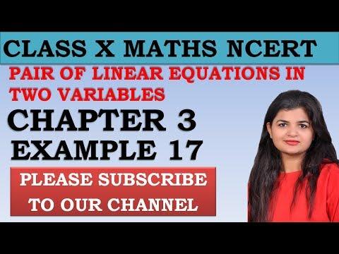 Chapter 3 Linear Equations Example 17 Class 10 Maths NCERT