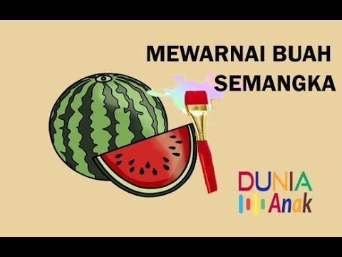 Buah Semangka Mewarnai Semangka Watermelon Step By Step Coloring