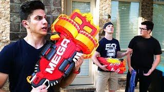 NERF WAR : EXTREMELY POWERFUL GUNS! (With UnspeakableGaming, 09Sharkboy, & MooseCraft)