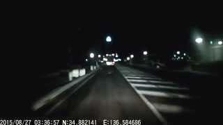 【ドライブレコーダー】DQN煽り運転トラックがはみ出し追い越し禁止のところで抜いてきた【鈴鹿市:suzuka】