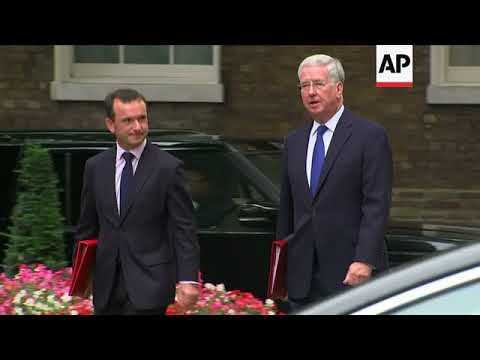 Cabinet ministers arrive for weekly meeting with PM