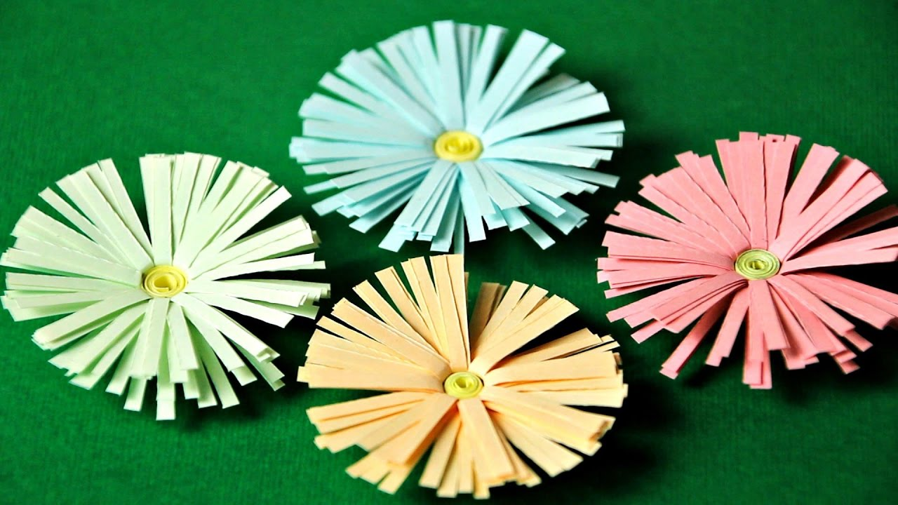 Youtube Fiori Di Carta.Fiori Di Carta Spring Flowers With Paper Youtube