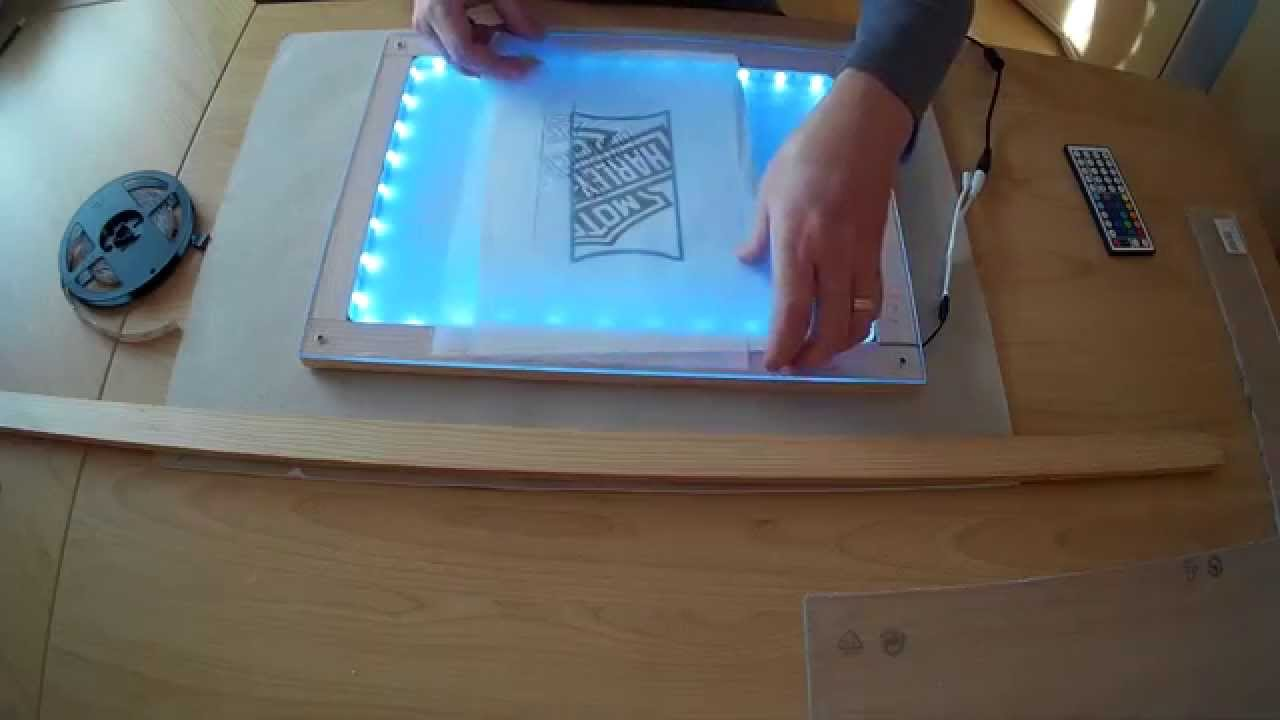 Fabrication table dessin extra plate lumineuse led youtube - Fabriquer une table lumineuse led ...