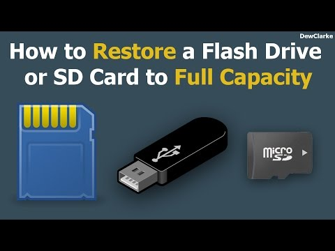 How to restore Flash Drive or SD Card back to full capacity (PC/Mac)
