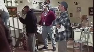 'On Location' Jackie's Back! set Tom Arnold, Robert Townsend prison scene 1999