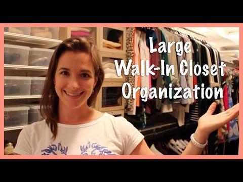 Large Walk-In Closet Organization: Summer 2014 Update