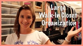 Large Walk-in Closet Organization: Summer 2014 Update