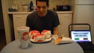Wendy's TRIPLE Triple Baconator meal Challenge!