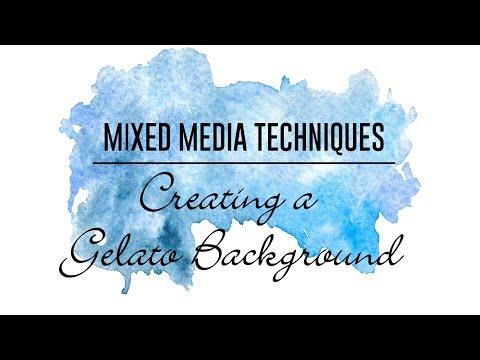 Mixed Media Techniques - Gelato Background