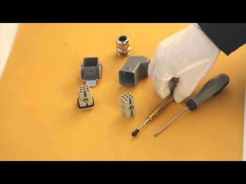 How to Installing WAIN HD Series Heavy Duty Connector (Harting Han Connectors) --- PRECISETOOL
