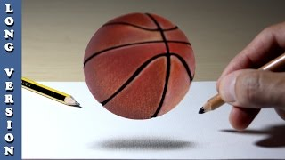 3D Trick Art on Paper   Basketball, Long Version