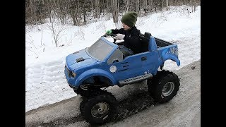 F150 Gas Power Wheel 6 year old Test Drive Duromax 7hp