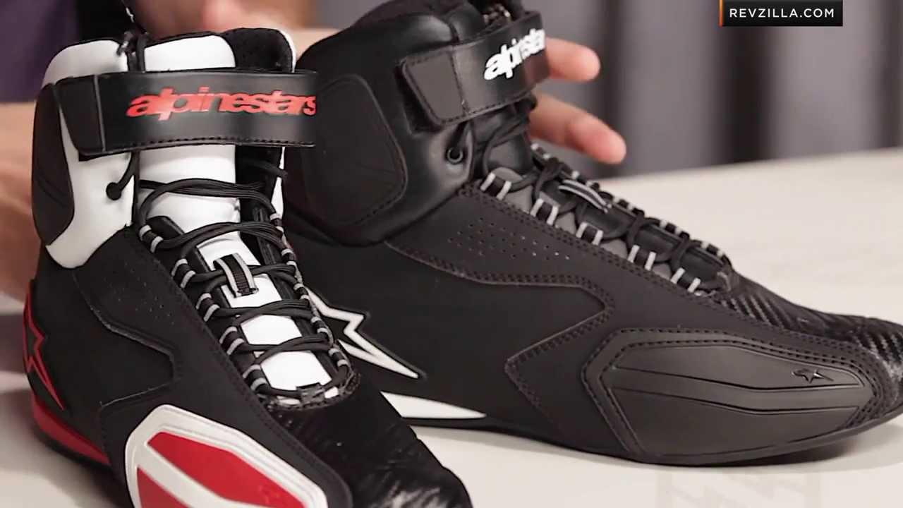 Alpinestars Fastback WP Men/'s Motorcycle Shoes Black White
