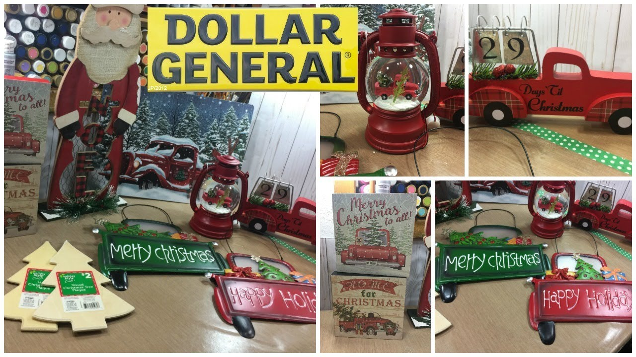 Dollar General Little Red Truck Christmas Decor Haul Youtube