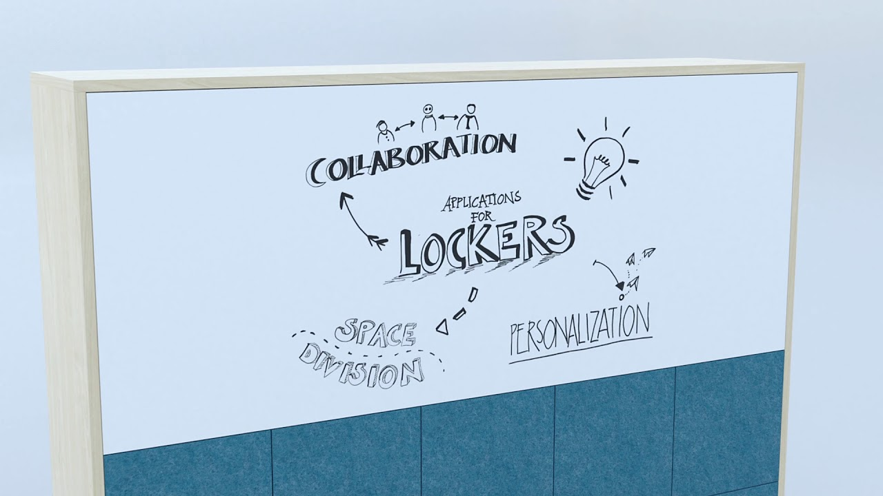 Lockers Collection animation - Shaping the new office landscape