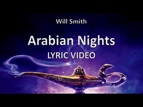 "Will Smith ""Arabian Nights"" ALADDIN 2019 