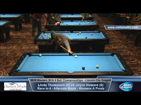 2016 WBCA 8 Ball - Womens A Finals - Linda Thompson vs Joyce Howard