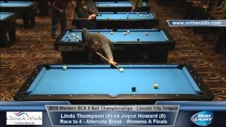 2016 WBCA 8 Ball - Womens A Finals - Linda Thompson vs Joyce Howard