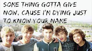 Here is the lyrics to brilliant acoustic version of one direction's 'one thing' from album 'up all night'. this song an exclusive a...