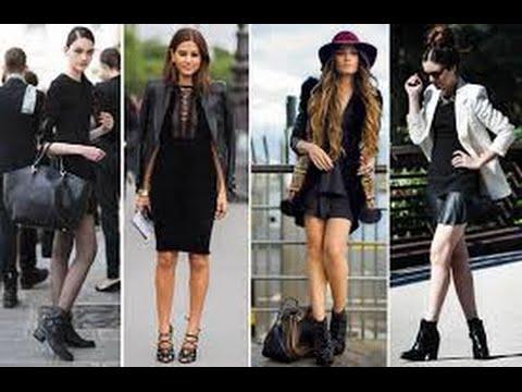 Outfits Con Vestido Negro Casual Youtube