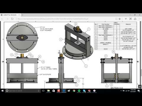 Mud Valves For Waste Water Facility Designed in Solidworks
