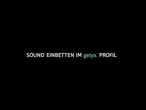 Tutorial 1 - How to embed sound on your getya. profile Mp3