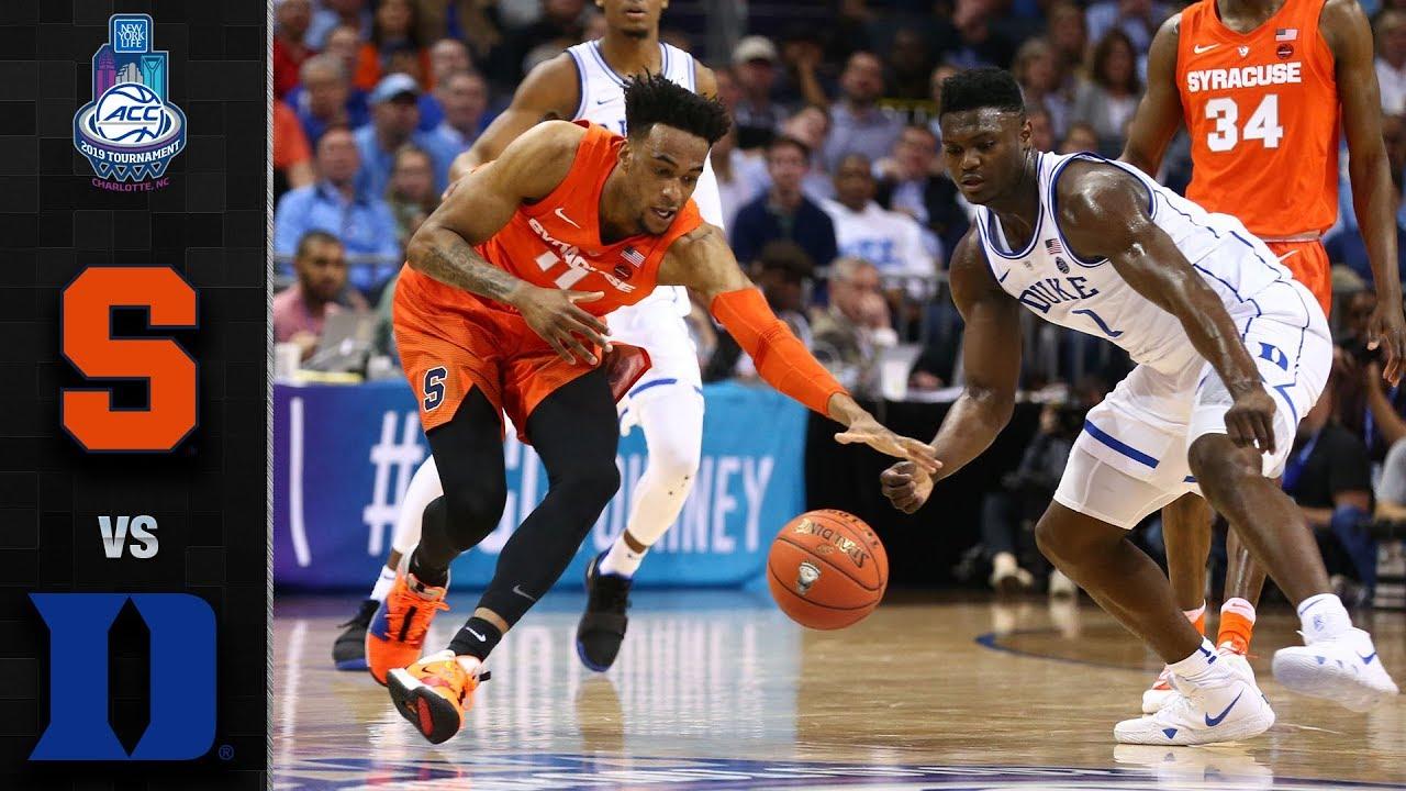 Syracuse Vs Duke Acc Basketball Tournament Highlights 2019