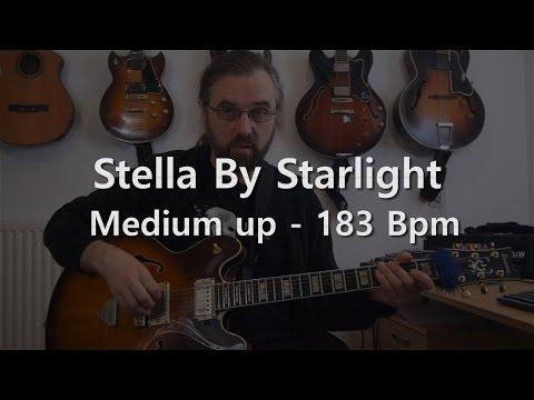 Stella By Starlight - Backing Track - Playalong - Medium Up - 183 bpm jazz