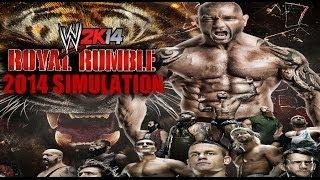 WWE Royal Rumble 2014 WWE 2K14 Simulation
